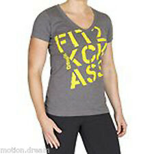 New Reebok Womens Tee CrossFit Kick Ass in Dark Grey Colour Size M