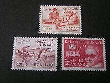 Greenland, Scott # B8+B9+B11(3),3- Complete Single Sets 1979-81 Semi-Postal Mnh