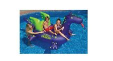Swimline Giant 54 Inch Sea Dragon Inflatable Kids Ride Swimming Float Pool Toy