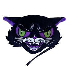 Kreepsville 666 Kattitude Halloween Plush Black Kitty Cat Wristlet Clutch Purse