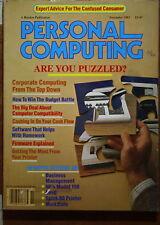 magazine, nostalgic, collectible, Personal Computing 1983-11