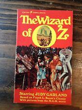 "RARE movie tie-in paperback ""The Wizard of Oz"" (1976) MGM film photos UNUSED NM"