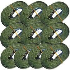 10 Klemmschlossgurte Spangurte  oliv 3 m En12195-2