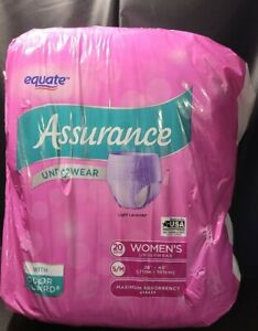Assurance Incontinence Disposable Underwear for Womens S/M Adult 20CT DISCREET