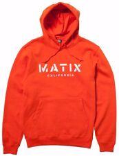 Matix CRUST HOOD Mens Pullover Hoodie Sweatshirt Size Small Orange NEW 2017