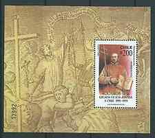 CHILE 1993 400 Years Jesuitas souvenir sheet MNH