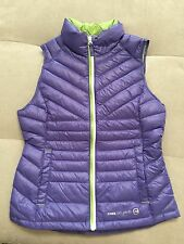 New Baby Girl Free Country Down Filled Vest Size M 10-12 Purple Nylon