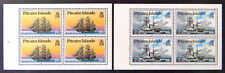 1990 Pitcairn Islands Stamps - Ships - 4 Pane Booklet Set of 2 x 4 MNH