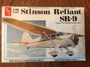 AMT Stinson Reliant SR-9 1/48 Scale Model Plane Kit 1937 Gullwing Design