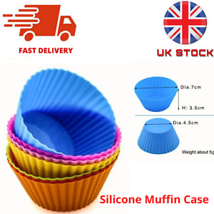 6/12/24 Pc  Silicone Muffin Cases Mold Baking Cake Mould  Cupcake Cup Reusable