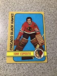 1972-73 TOPPS TONY ESPOSITO #20 DECEASED HOF Blackhawks