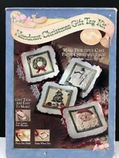 Ch3 Handcast Christmas Gift Tag Kit~Brown Bag Paper Art~Molds and Supplies