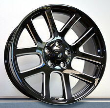 "22"" SRT10 Dodge Ram Laramie 1500 Factory Wheels Rims Black with Silver accents"