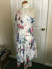 BNWT - Lipsy White Lace Halter Neck Dress  - Size 6 - wedding party Xmas Holiday