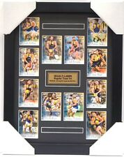 WEST COAST EAGLES AFL 2018 SELECT CARD SET FRAMED - NAITANUI, LECRAS, GAFF