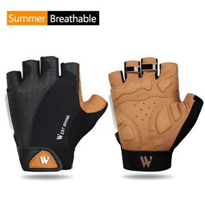 Half Finger Cycling Hiking Gym Gloves Breathable Road Mountain Bike Womens Men