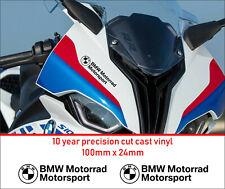 BMW motorrad motorsport Premium Decals Stickers 10 year Vinyl  Motorcycle