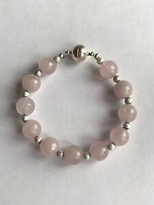 Healing Crystal Gemstone Bracelet -Rose Quartz Love And Peace Bracelet