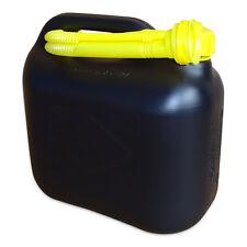 5 Liter Dieselkanister Benzinkanister UN-Zulassung schwarz + inkl. Ausgießer NEU