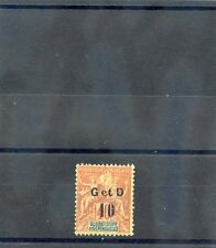 GUADELOUPE Sc 46(YT 46a)*F-VF LH 1903 10c/40c RED ORANGE, TYPE H $25