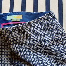 Bildhübscher Bleistiftrock von Boden, 36, blau / weiss - toller Quadratmuster!