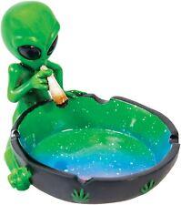 Alien Smoking A Joint Green Novelty Ashtray Marijuana Weed