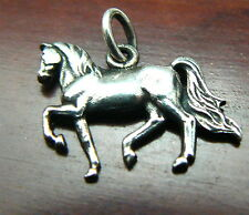 Retired Fancy Prancing Horse Sterling Silver Pendant or Charm by James Avery
