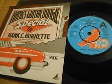 "Hank C. Burnette - ""Hank's Guitar Boogie EP - Pink and black etc"" 7"" single DEMO"