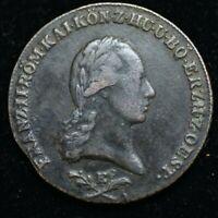 1800 E AUSTRIA FRANZ II 6 KREUZER - LARGE COIN 32mm - GREAT COIN