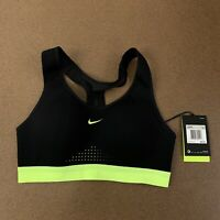 Nike Motion Adapt Women's Size XS Black High Support Active Training Sports Bra