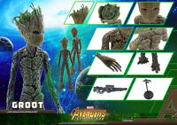 1//6 Scale Crazy Toys Xmas gift Avengers Endgame Groot PVC Figure New boxed