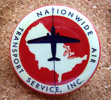 1947 Nationwide Airline Design Button Pin Back  Modernist Mid-Century (#5)