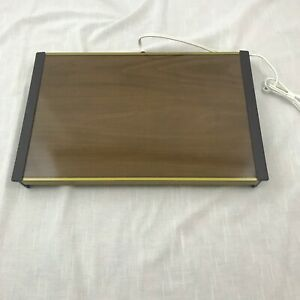 """Vintage Hostess Electric Warm-O-Tray Model 60 Brown 11"""" X 17"""" Works Great"""