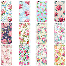 DYEFOR SHABBY CHIC FLORAL FLOWERS HARD CASE COVER FOR APPLE IPHONE MOBILE PHONES