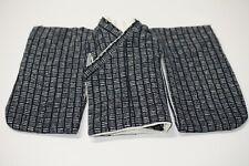 1/4 Bjd Msd Short Kimono top - indigo beige line squares