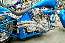 NEW Doug Keim Checkmate Chrome Exhaust Pipe for Harley Softail 1987-2015 Pipes