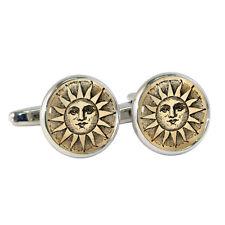 Estilo Vintage Sol Gemelos Medieval Bloque Ilustración Sol Esfera Nuevo