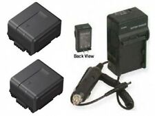 2 Batteries + Charger for Panasonic VW-VBG130 VW-VBG130-K VW-VBG130PP AG-HMC40