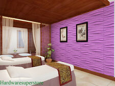 Inreda Design 3D Glue on Wall Panels 32.18 Sq Ft Per Box Plant Fiber Materials