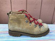 Vintage WILDERNESS Brown Leather Lace Up Moutaineer Hiking Mountain Boots US 9M