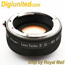 Zhongyi Lens Turbo II Reducer Booster Nikon F AI G to Sony E Adapter NEX 7 A6300