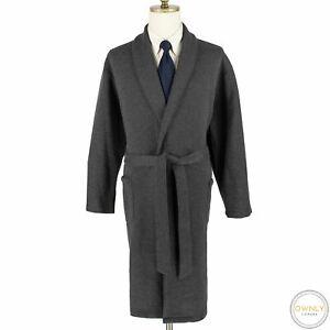 Nordstrom Grey Cotton Polyester Jersey Knit Patch Pkts Belted Robe XL/XXL