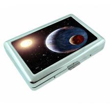 Solar Planet Space Em1 Silver Metal Cigarette Case RFID Protection Wallet