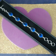 "Beautiful 925 Silver Bracelet With Faseted Tanzanite 14.4Gr. 7.""5 Inches Long"