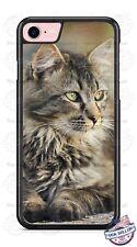 Green Gray Cat Design Phone Case for iPhone Samsung LG Google LG Motorola etc