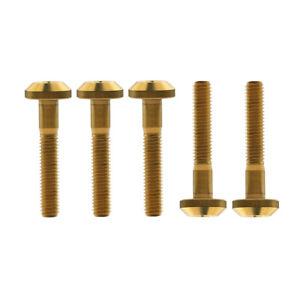 5PCS Titanium Bolts M6x12/15/20/25/30/35mm Umbrella Head Ti Bolt Bike MTB Screws