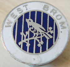 WEST BROMWICH ALBION Vintage club crest type badge Brooch pin In chrome 26mm Dia