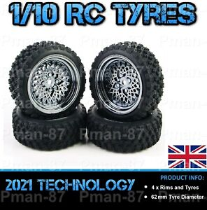 BRAND NEW 1/10 Off Road Rally Racing Nitro Car RC Wheel and Tire Tyre x 4 62mm