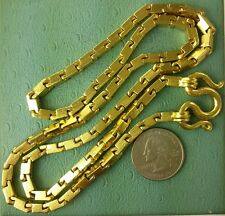 "24k SOLID Pure.9999 GOLD Large Baht Bar NECKLACE 26""/151grams HEAVIEST on EBAY"