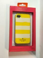 Kate Spade New York iPhone 4 4s Hard Shell Case yellow white stripes